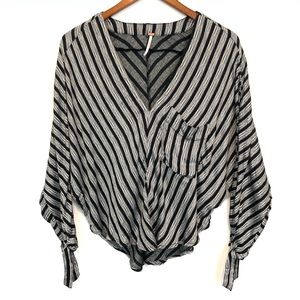 Free People | BOHO Striped Summer Blouse Sz M